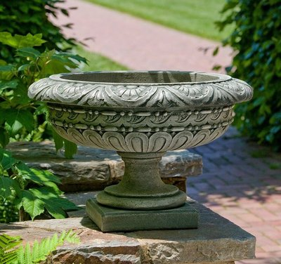 Cast Stone Longwood Rosette Urn