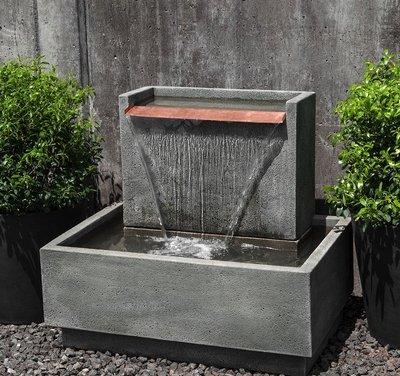Cast Stone Falling Water Fountain II