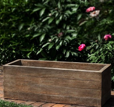 Cast Stone Barn Board Window Box