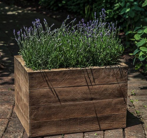 Cast Stone Barn Board Planter