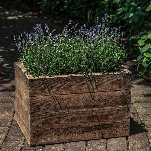 Cast Stone Barn Board Planter