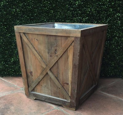 Outdoor Accessories Reclaimed Wood Town & Country Planter