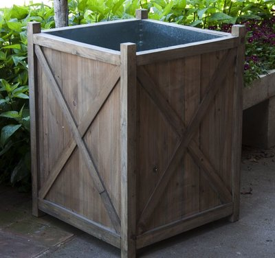 Outdoor Accessories Reclaimed Wood Orchard Planter