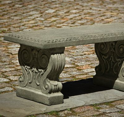 Cast Stone Classic Garden Bench