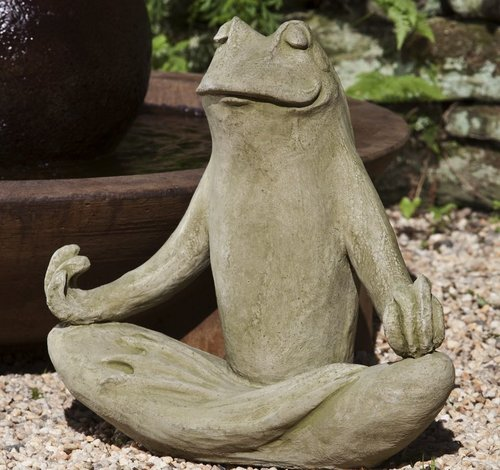 Cast Stone Totally Zen Frog