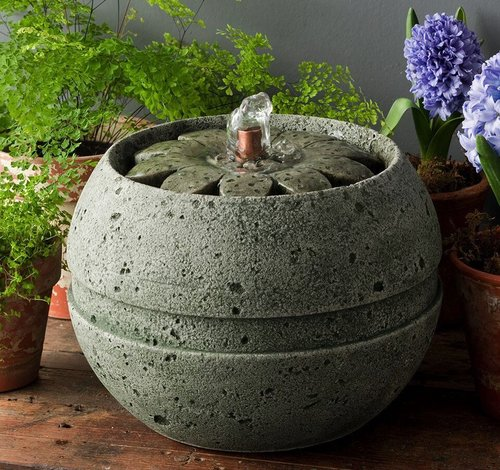 Cast Stone Rosette Fountain