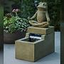 Cast Stone Mini Element Zen Frog Fountain