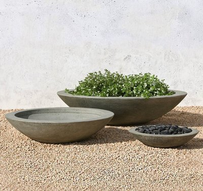 Cast Stone Low Zen Bowl