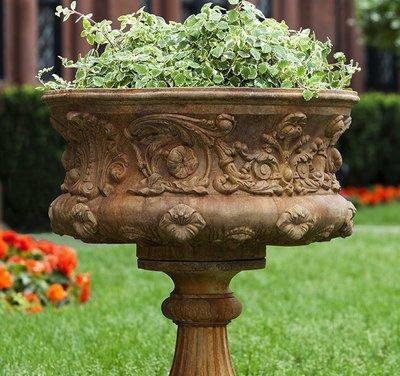 Cast Stone Smithsonian Morning Glory Urn