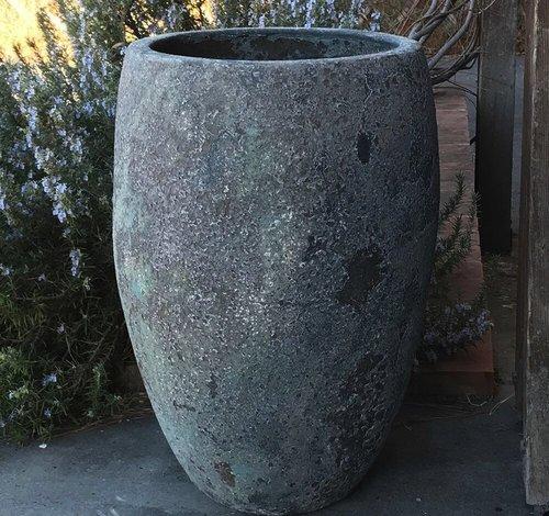 Glazed Verdi Tall Egg Planter