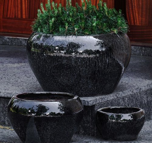 Glazed Maia Planter Set of Three