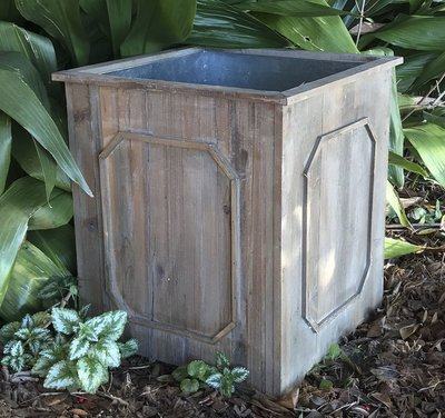 Outdoor Accessories Reclaimed Wood Medallion Planter