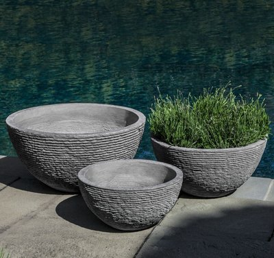 Fiberglass Stone Ledge Bowl Set
