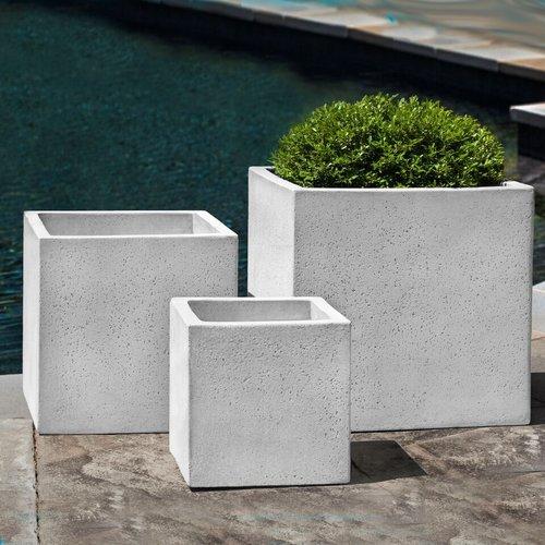 Fiberglass Laguna Square Planter Set