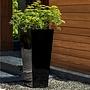 Fiberglass Glossy Black Faro Lite Planter