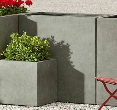 Fiberglass Tall Lite Rectangle Planter