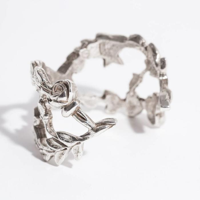 Saint Claude Secret Garden Cuff - Sterling Silver
