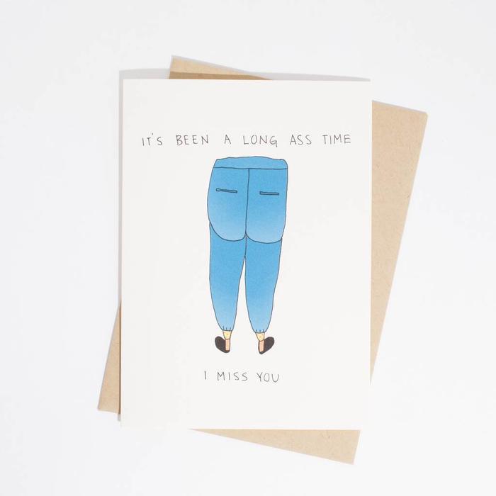 Fine Ass Lines Card-  Long Ass Time