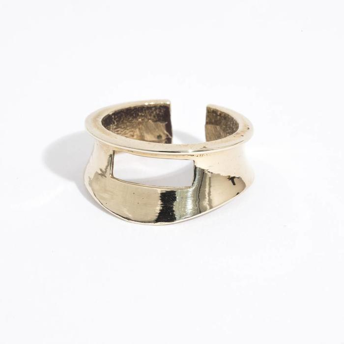 Aesa Small Shield Ring