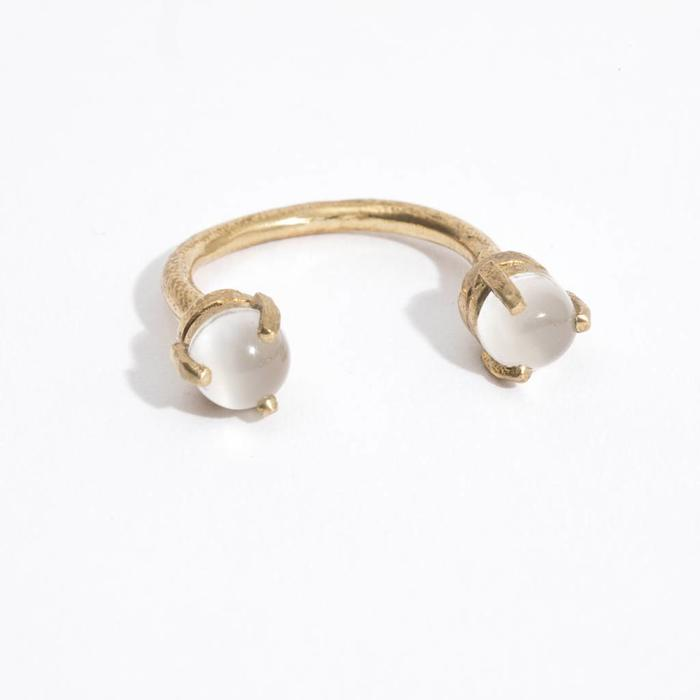 Aesa Single Wave Ring - Moonstone