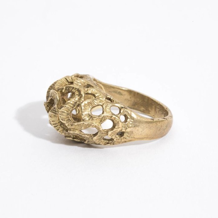 Saint Claude Trompa Del Elefante Ring - Brass
