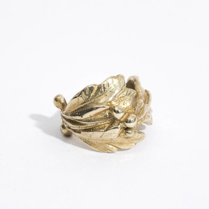 Saint Claude Floral Ring - Brass