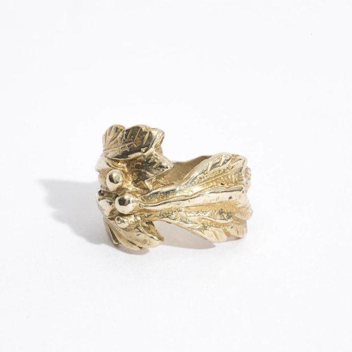 Saint Claude Floral Ring - Brass