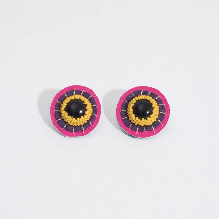 Robin Mollicon Button Earrings