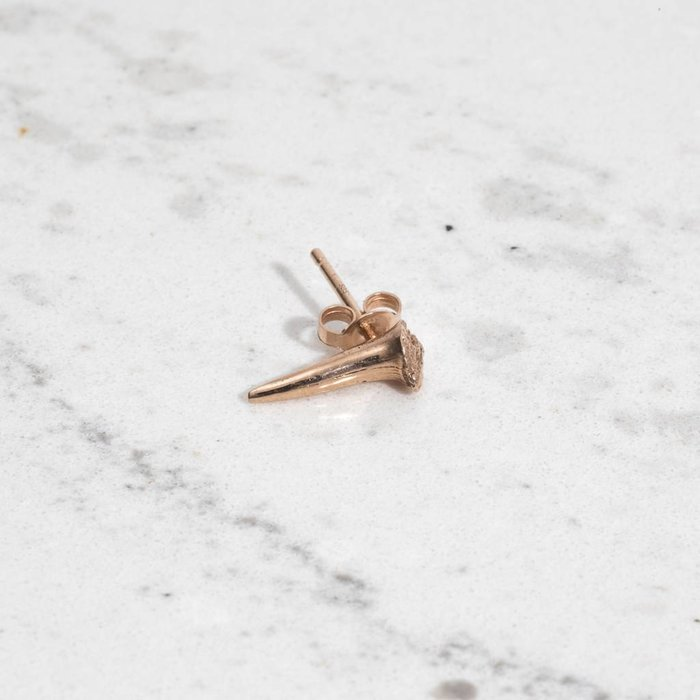 Stephanie Boone - Small Shark Tooth Stud 14K Rose Gold