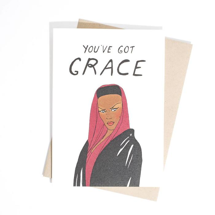 Fine Ass Lines Card-  You've Got Grace