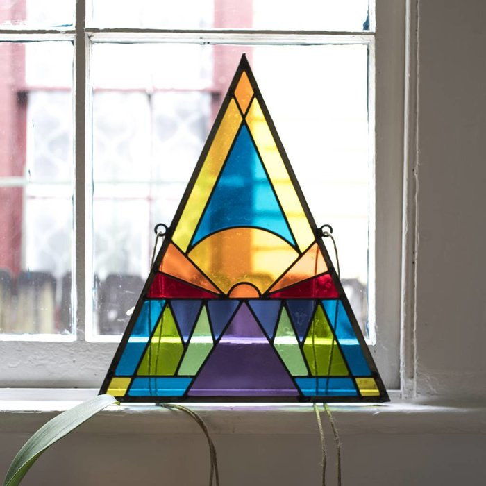 David Scheid Triangle Stained Glass