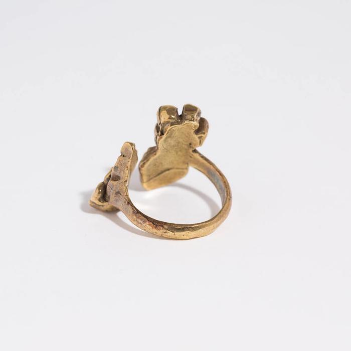 Saint Claude Open Flower Ring - Brass