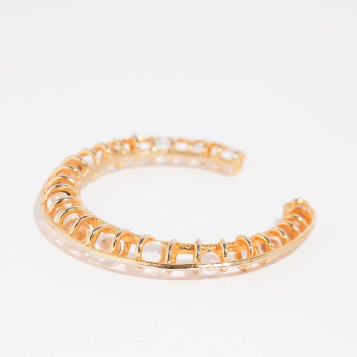 Unearthen Mata Cuff Gold Vermeil & Quartz Spheres