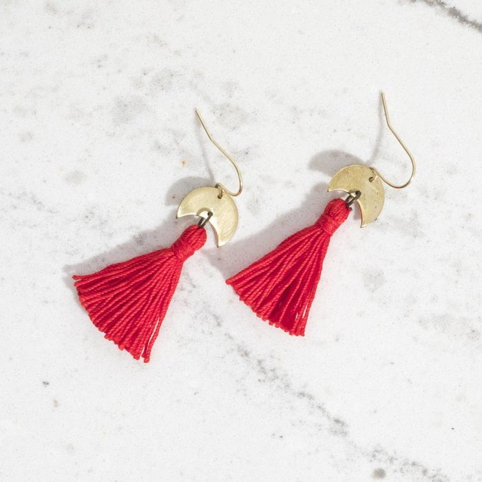 Hess And Co. Sway Earrings - Red