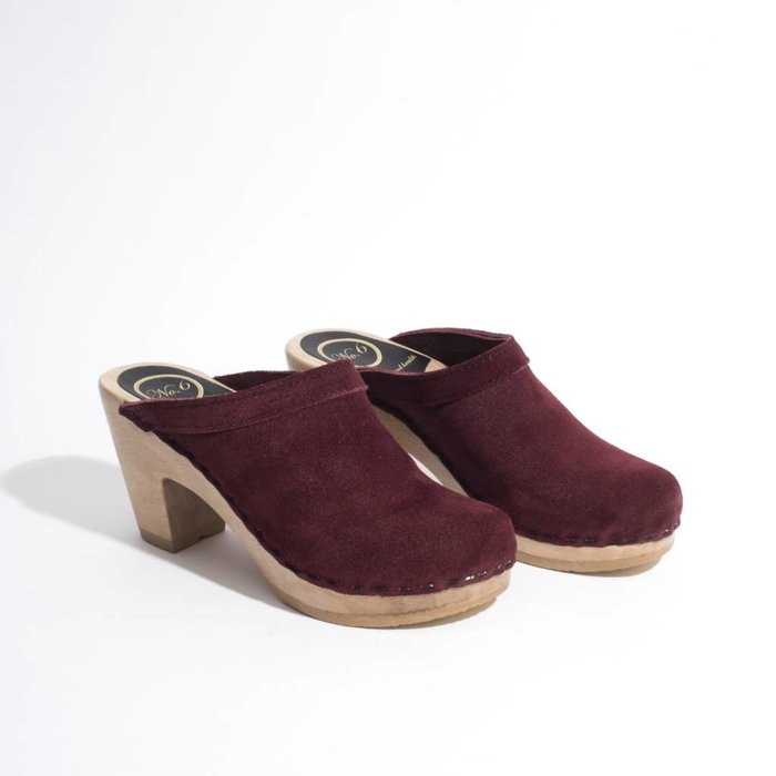 No. 6 Old School Burgundy Clog