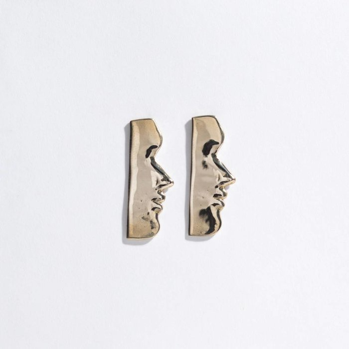 Open House Fille Earrings - Brass