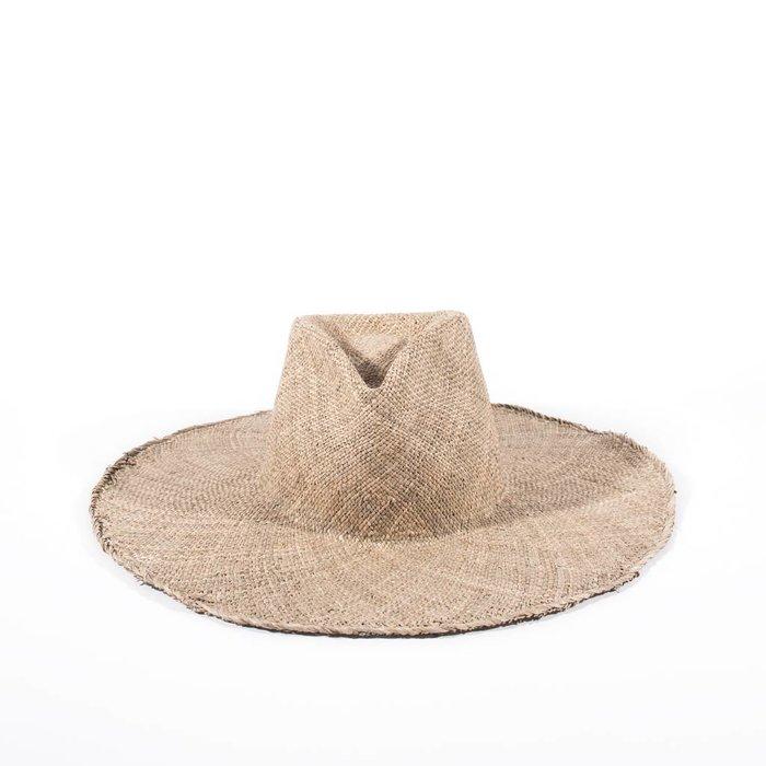 Clyde Wide Brim Pinch Seagrass Hat