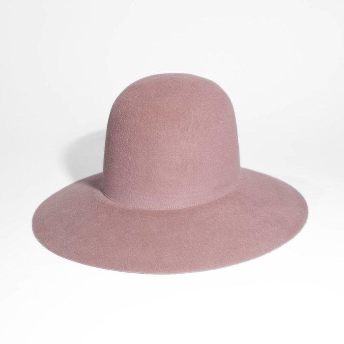 Wide Brim Dome Hat - Rose