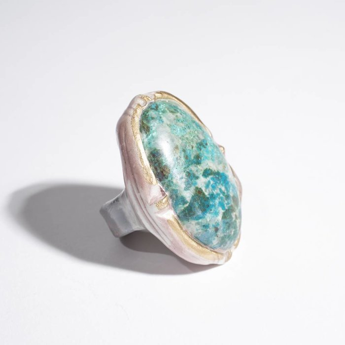 Adina Mills Turquoise Oval Ring