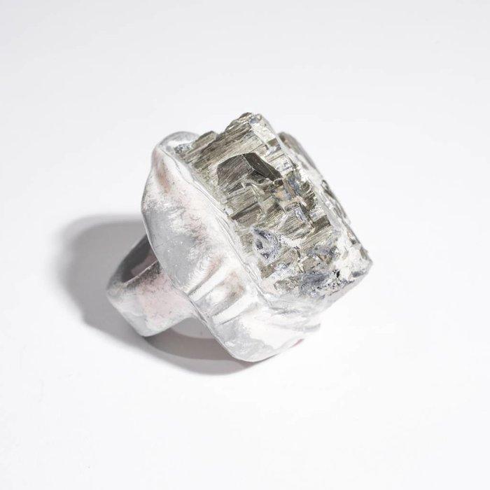 Adina Mills Large Pyrite Ring