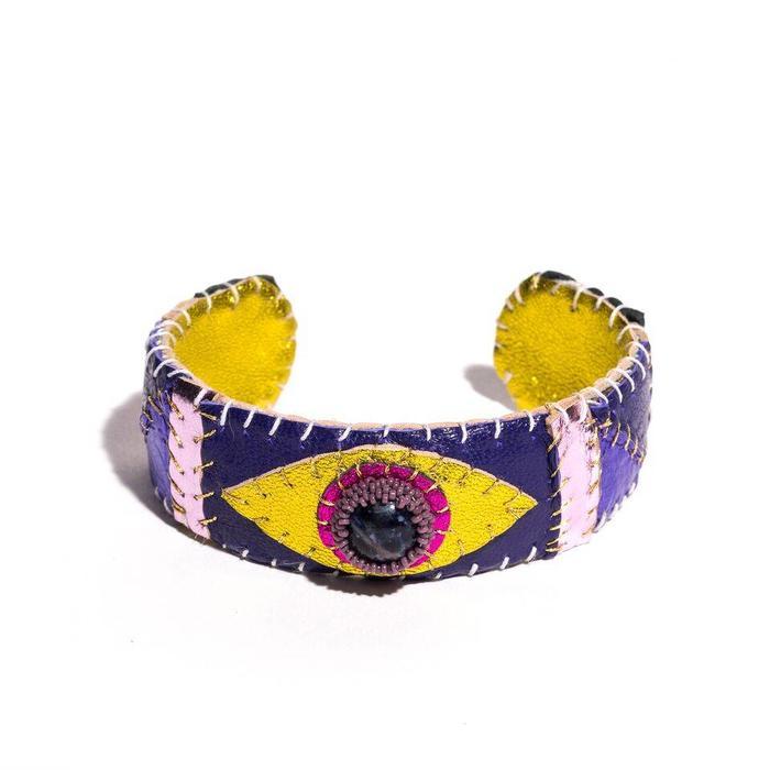 Robin Mollicone Metallic Sodalite Eye Cuff