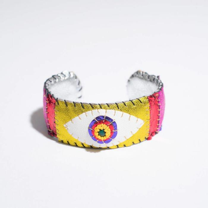 Robin Mollicone Metallic Malachite Eye Cuff