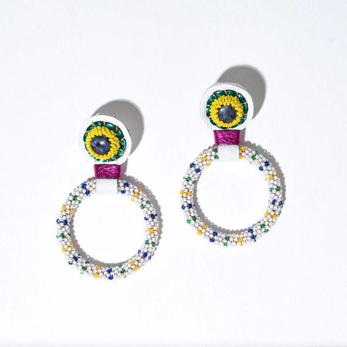 Robin Mollicone Sodalite Small Hoop Earrings