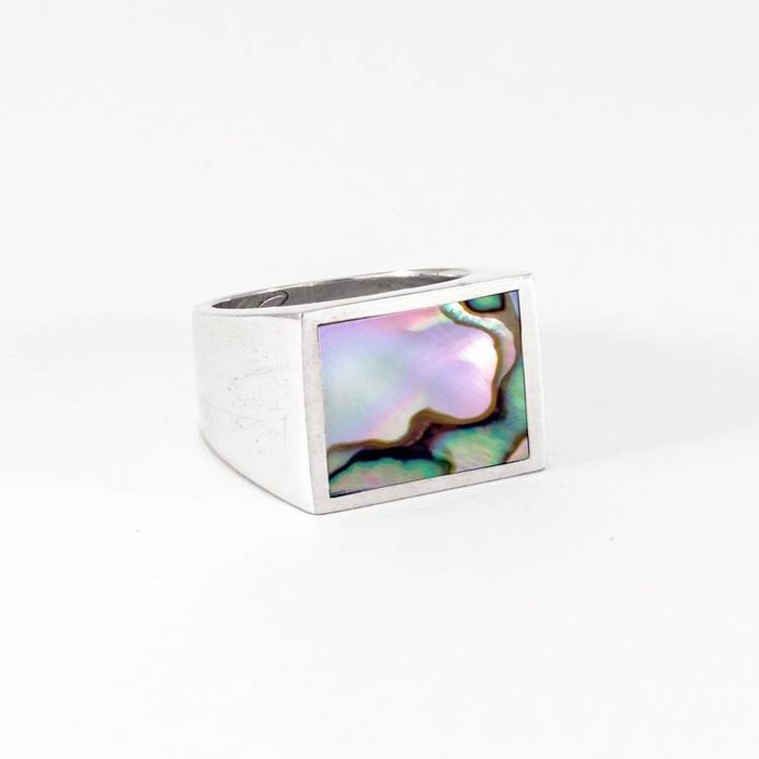 Legier Ring Silver with Abalone