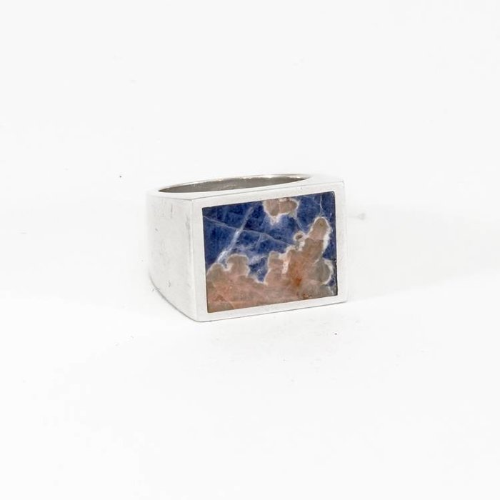 Legier Ring Silver with Blue Sodalite