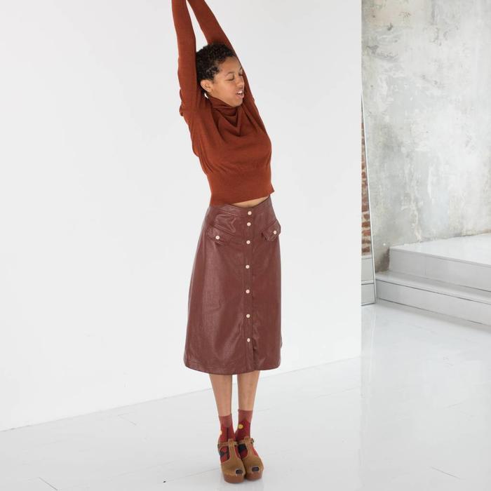 No.6 Elizabeth Snap Front Skirt