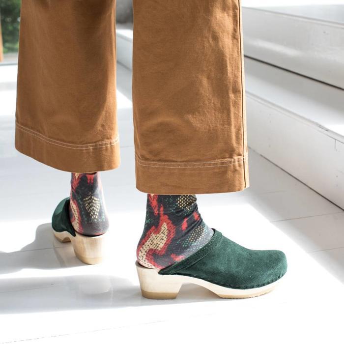 No. 6 Old School Clog Mid Heel