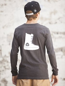 Men's Long Sleeve Tee Men's Long Sleeve Snowboard Boot Tee