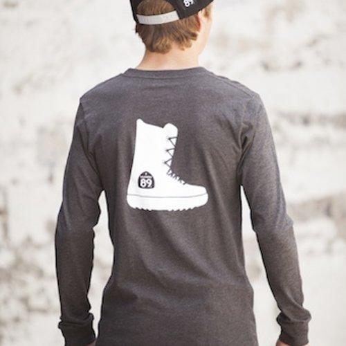 Men's Long Sleeve Tee Men's Long Sleeve Snowboard Boot Tee