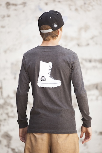 Men's Long Sleeve Tee Snowboard Boot Long Sleeve Men's Tee